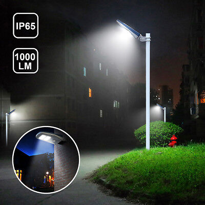 30Leds 1,000 Lumen Outdoor Solar Powered Street Light PIR Motion IP65 Wall Mount