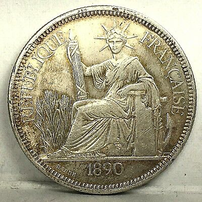 French Indochina 1 Piastre 1890 (weight 27.210g)