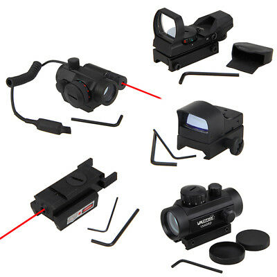 Hunting Tactical Mini Holographic Reflex Red Green Dot Sight Scope Adjustable