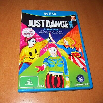 Wii U Game : JUST DANCE 2015 + ( BOOKLET MANUAL ) ~ DISC LIKE NEW !