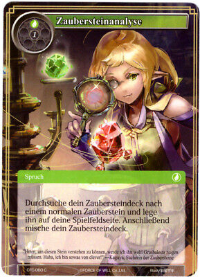 Force of Will TCG Map #cfc-060 zaubersteinanalyse