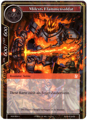 Force of Will TCG Map #rde-009 milests flammensoldat