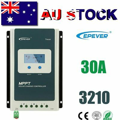 EPEVER 30A MPPT Solar Charge Controller 12V/24V Negative Ground Lithium Battery
