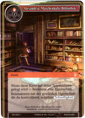 Force of Will TCG Map #cfc-022 Alexandria Fabulous Library