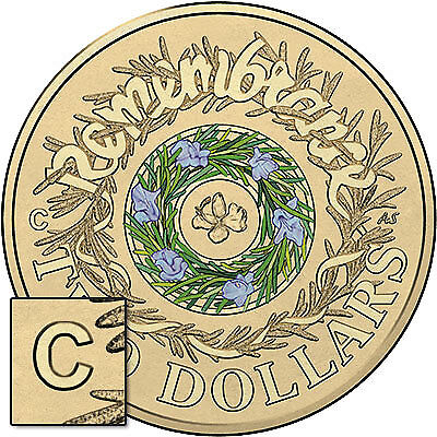 2017 $2 Remembrance 'C' Mintmark Pack