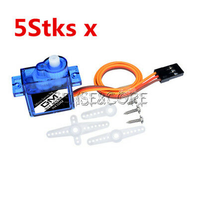 5Stks Micro RC Servo Mini Gear 9G SG90 For RC Helicopter Airplane Car Boat