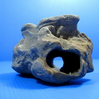 Cichlid Rock Cave Aquarium Decorations -Small Moss Stone Fish Tank Ceramic Decor