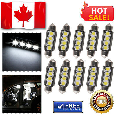 20X 6000K Xenon White T10 5-SMD Led Interior/License Plate Light Bulbs W5W 194