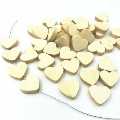 50pcs Wooden Beads Heart-shape Natural color decoration Jewelry Accessories 20mm