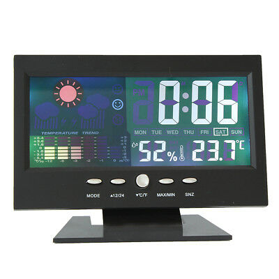 Colour LCD Screen Calendar Digital Clock Car Thermometer Weather Forecast