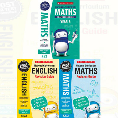 National Curriculum Revision Guide Book for Year 6 Maths 3 Books Collection Set