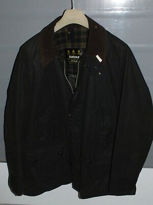 barbour bedale jacket waxed cotton + pin  green 100%authentic c48/122 XL