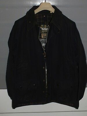 Barbour beaufort jacket  waxed cotton blue 100%genuine C46/117 CM  XL