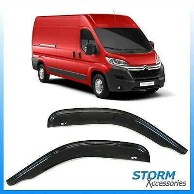D010 - Citroen Jumper 2006 On Stx Wind Deflectors - Wind Visors - External Fit