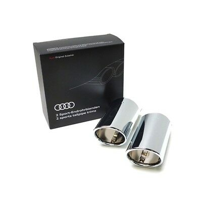 Genuine Audi Q2 Chrome Plated Double Exhaust Trims