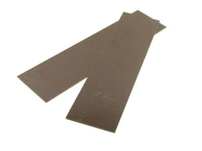 """New Product """"BROWN"""" G10 LINER .030"""" 1/4""""x 1.5"""" x 6""""  2 Pieces Spacers or Liners"""