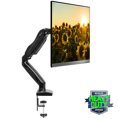 Full Motion LCD Monitor Arm Gas Spring Desk Mount for Screens up to 27""