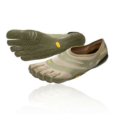 cf34475bfc Vibram Mens FiveFingers EL-X Training Gym Fitness Shoes Brown Green Trainers