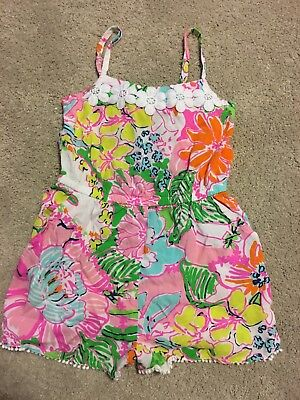 Lilly Pulitzer for Target Girl's Floral Shorts Romper Nosie Posey