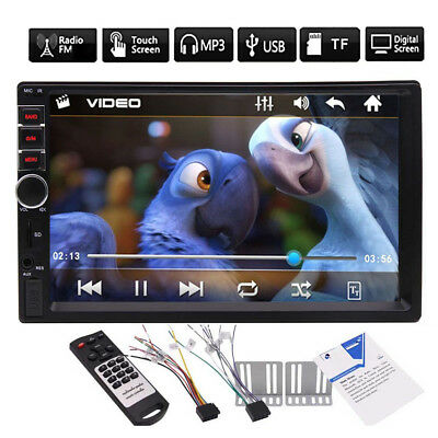 """Double 2 Din In Dash 7"""" HD Touch Screen Car Stereo MP5 Player Bluetooth Radio"""