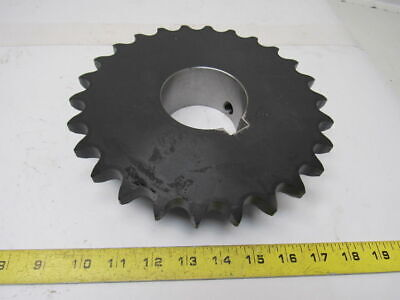 "Tsubaki H80B26 #80 Chain 1"" Pitch 2-7/8"" Finished Bore Chain Sprocket"