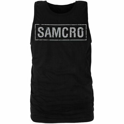 Adult Men's Drama Television Show Sons of Anarchy Samcro Boxed Logo Black Tank