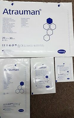 Atrauman impregnated dressings, 4 sizes available, please select size and qty