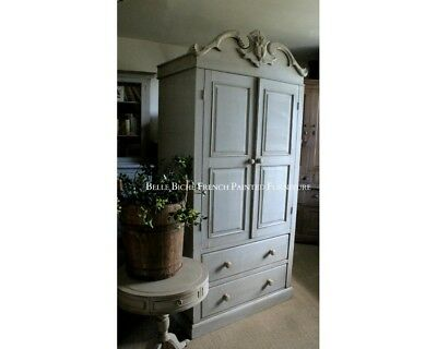 Pine Armoire - Handsome Lightweight French Painted Pine Wardrobe