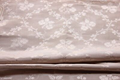 "Antique 19thC French Cream Patterned Silk Fabric~Dolls~33""L  X  21 1/2""W"