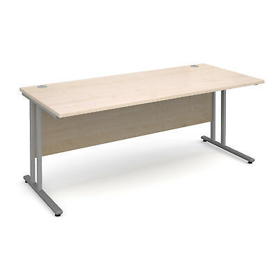 Maestro 25 SL straight desk 1800mm x 800mm - silver cantilever frame, maple