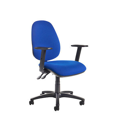 Jota high back operator chair with adjustable arms - Blue