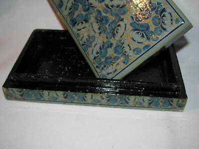 Antique - Kashmir - Hand Made Paper Match Box With Hand Paint  And  Signature