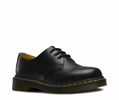 Dr Martens Mens 1461 Black Smooth Leather Casual Shoes 3 Eyelet Lace Up