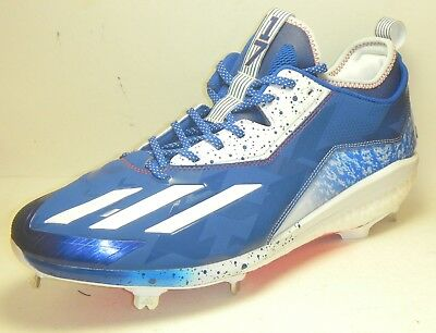 c26efc6b47a5 New Kris Bryant Game Issued PE Adidas Baseball Cleats Size 13.5 Cubs Blue  Red