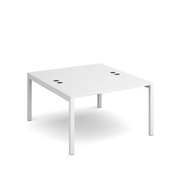 Connex back to back desks 1600mm deep - White - 1200 - White