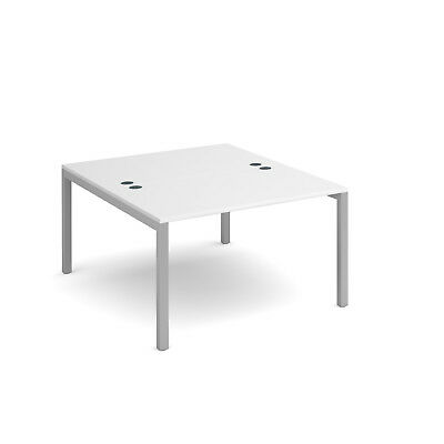 Connex back to back desks 1600mm deep - White - 1200 - Silver