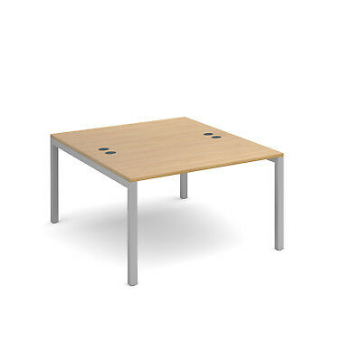 Connex back to back desks 1600mm deep - Oak - 1200 - Silver