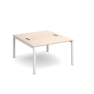 Connex back to back desks 1600mm deep - Maple - 1200 - White