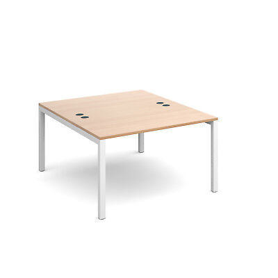 Connex back to back desks 1600mm deep - Beech - 1200 - White