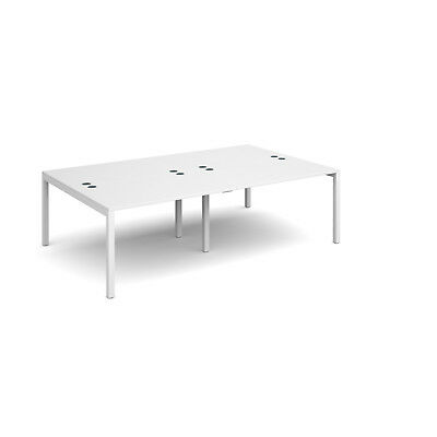 Connex double back to back desks 1600mm deep - White - 2400 - White