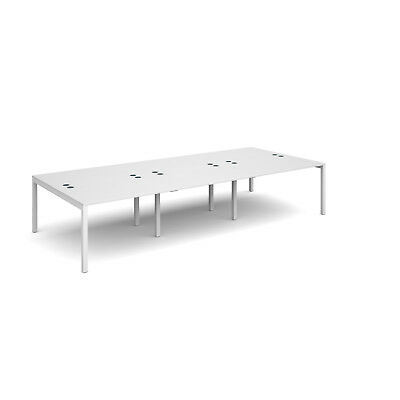 Connex triple back to back desks 1600mm deep - White - 3600 - White