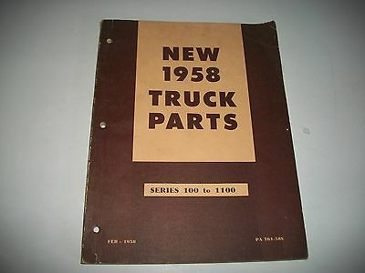 1958 Ford & Mercury Trucks New Chassis Parts Catalog    New Parts For 1958
