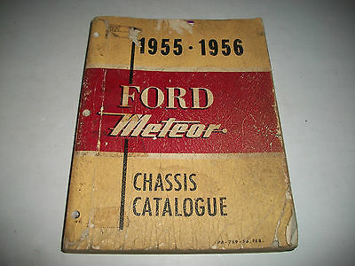 1955 1956 Ford-Meteor-Thunderbird Chassis Parts  Catalog Illustrated