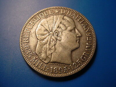 Haiti - Silver - 1895 50-Centimes In Very Nice Condition