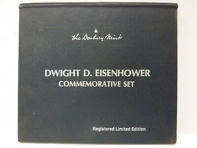 Danbury Mint Dwight Eisenhower Wwii Sterling Silver Coin Commemorative Set