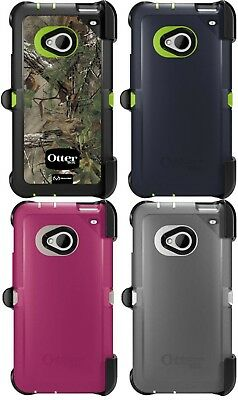 Brand New!! Otterbox Defender Series Case For HTC One M7 + Belt Clip