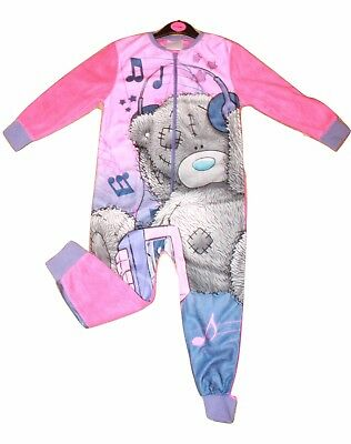Girls Kids Jumpsuit Tatty Teddy Fleece Pyjamas All In One Me to You Pjs Age 4-6