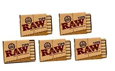 Raw Natural Unrefined Pre-Rolled Filter Tips 5 Pack ( 21 Per Box )