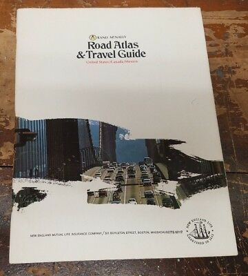 Vintage RAND MCNALLY Road ATLAS Travel Guide United States US Mexico
