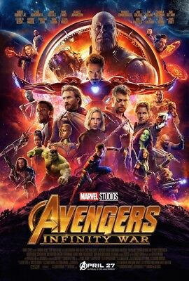 AVENGERS INFINITY WAR Disney Marvel Studios movie poster 24x36 US Final Version